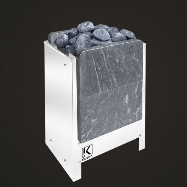 """Электропечь KARINA """"Люкс"""" в камне талькохлорит (Вертикальный) 14 кВт"""