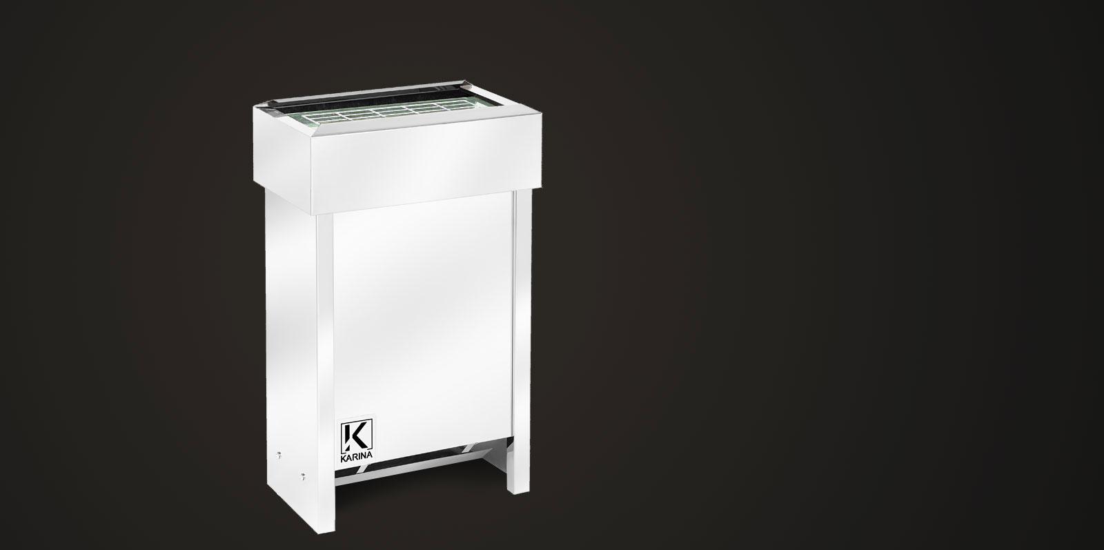 Электропечь KARINA Люкс в камне змеевик (Горизонтальный) 6 кВт