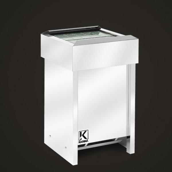 Электропечь KARINA Люкс в камне змеевик (Горизонтальный) 12 кВт