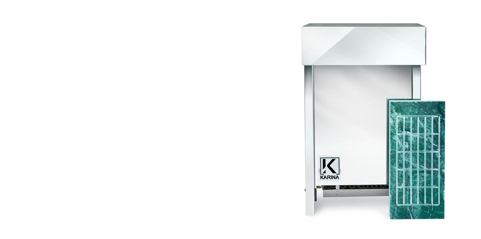 Электропечь KARINA Люкс в камне змеевик (Горизонтальный) 18 кВт