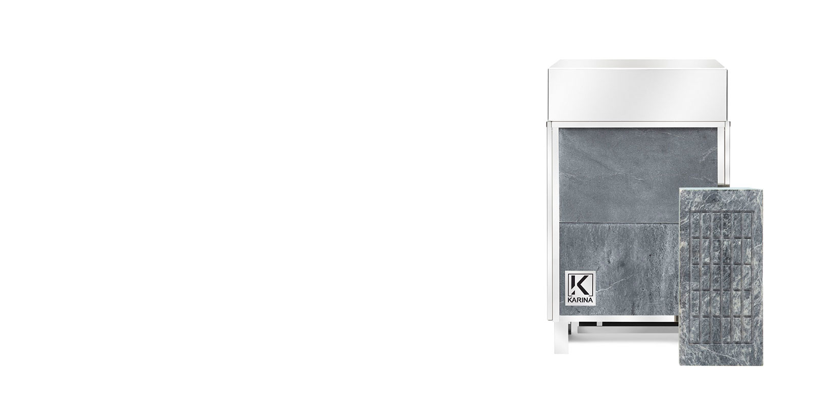 Электропечь KARINA Премиум в облицовке талькохлорит (Горизонтальный) 14 кВт
