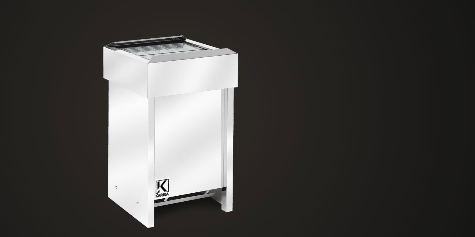 """Электропечь KARINA """"Люкс"""" в камне талькохлорит (Горизонтальный) 24 кВт"""