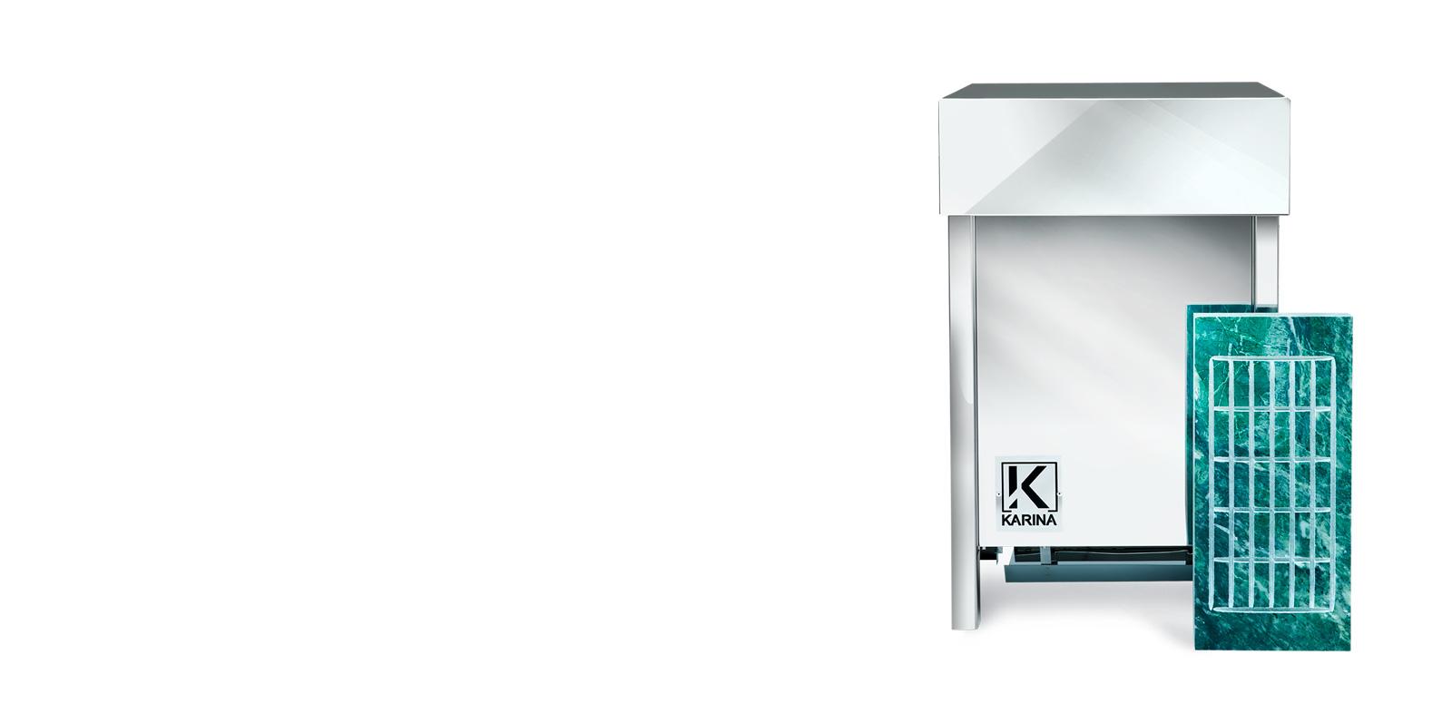 """Электропечь KARINA """"Люкс"""" в камне змеевик (Горизонтальный) 7 кВт"""