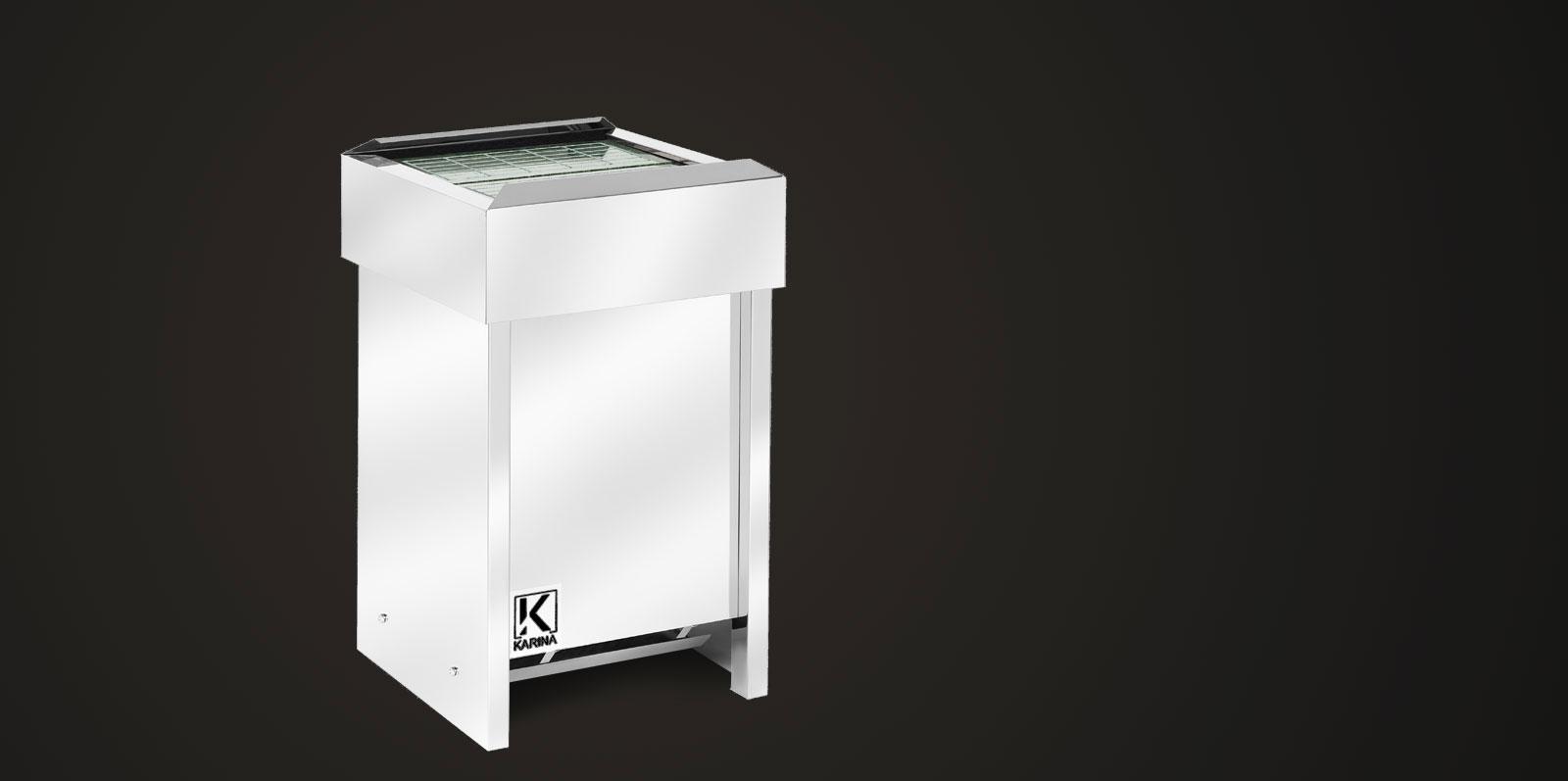 """Электропечь KARINA """"Люкс"""" в камне змеевик (Горизонтальный) 24 кВт"""