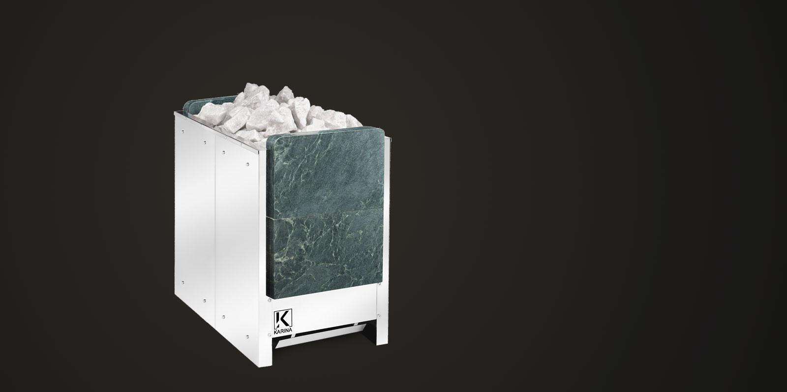 """Электропечь KARINA """"Люкс"""" в камне талькохлорит (Вертикальный) 28 кВт"""