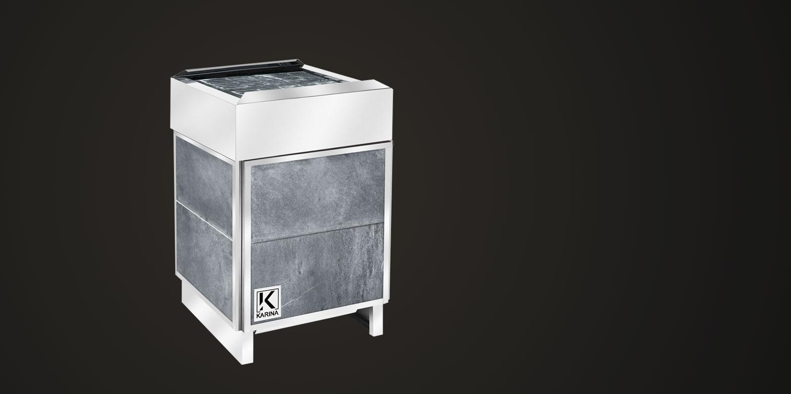 """Электропечь KARINA """"Премиум"""" в облицовке талькохлорит (Горизонтальный) 24 кВт"""