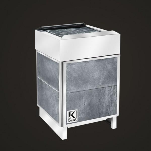 """Электропечь KARINA """"Премиум"""" в облицовке талькохлорит (Горизонтальный) 18 кВт"""