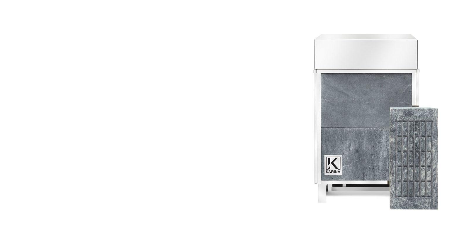"""Электропечь KARINA """"Премиум"""" в облицовке талькохлорит (Горизонтальный) 12 кВт"""