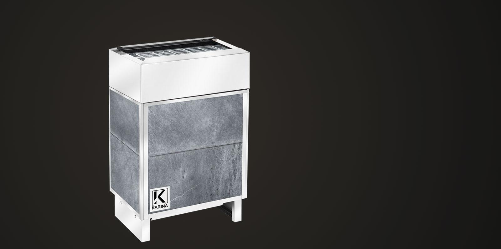 """Электропечь KARINA """"Премиум"""" в облицовке талькохлорит (Горизонтальный) 5 кВт"""