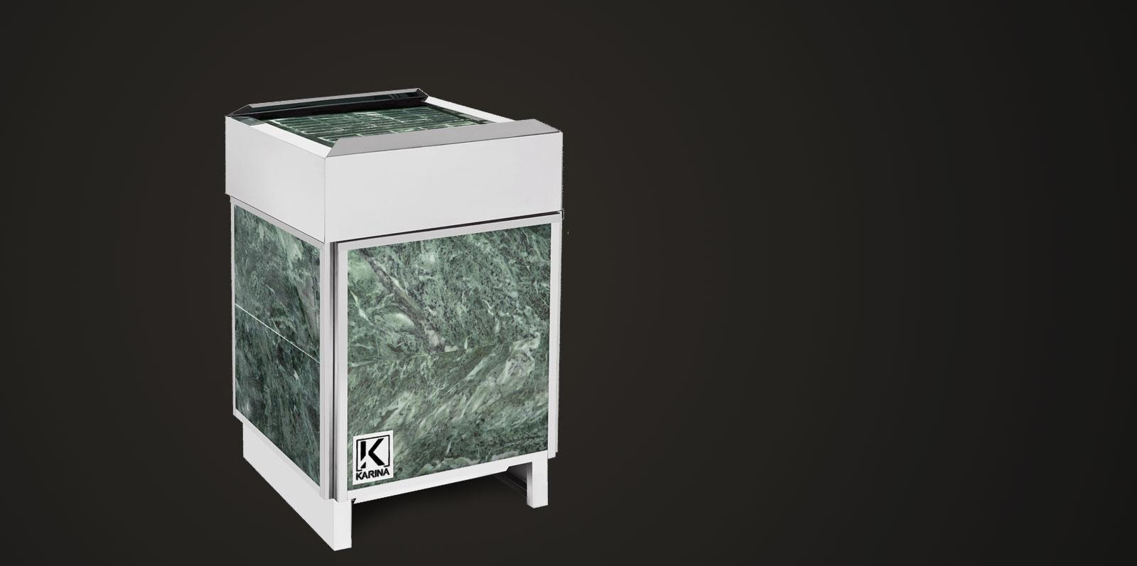 """Электропечь KARINA """"Премиум"""" в облицовке змеевик (Горизонтальный) 18 кВт"""