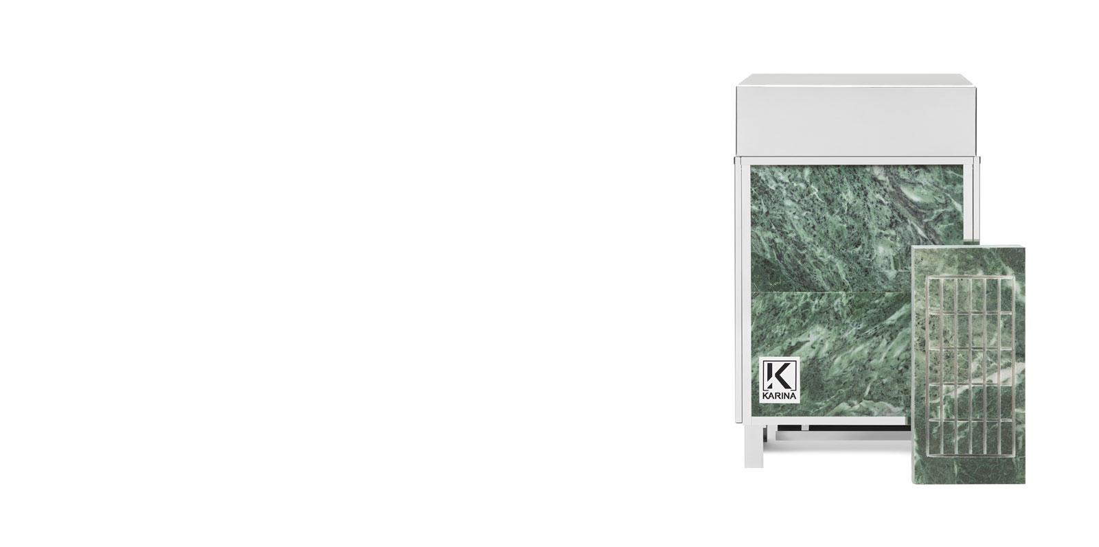 """Электропечь KARINA """"Премиум"""" в облицовке змеевик (Горизонтальный) 5 кВт"""